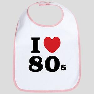 I Heart 80s Bib
