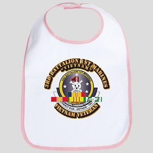 SSI - 3rd Bn - 1st Marines w VN SVC Ribbon Bib