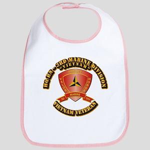 USMC - HQ Bn - 3rd Marine Division VN Bib