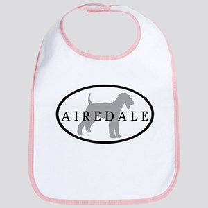 Airedale Terrier Oval #3 Bib
