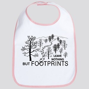 Leave Nothing but Footprints Bib