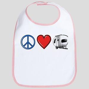 Peace Love & Camping Bib