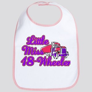 Little Miss 18-Wheeler Bib