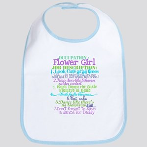 Occupation Flower Girl Lilac Bib