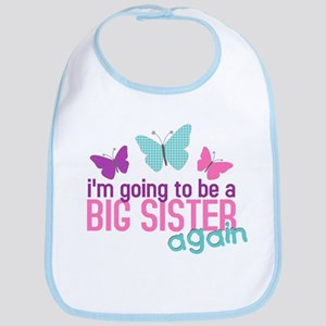 butterfly big sister to be Bib