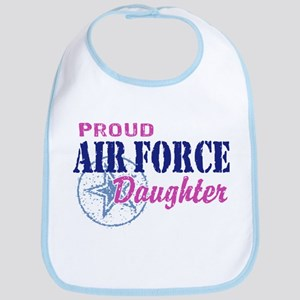 Proud Air Force Daughter Bib