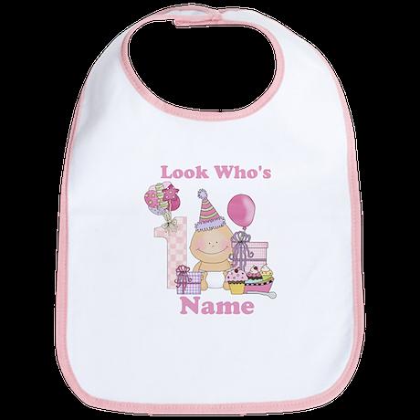 First Birthday Baby Girl Bib