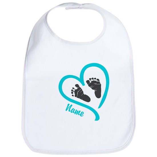 Baby Heart Blue Personalized