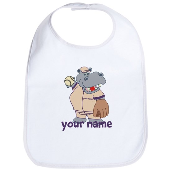 Personalized Baseball Hippo