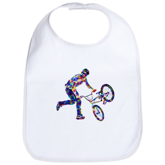 Super Crayon Colored BMX Rider Performing Stunt