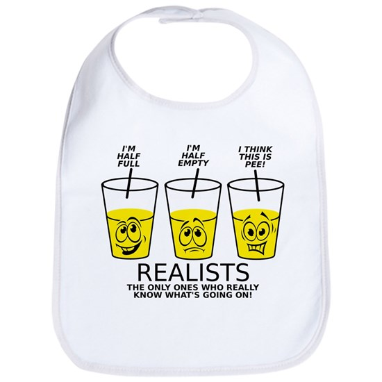 Half Full Half Empty Pee Realist Glass