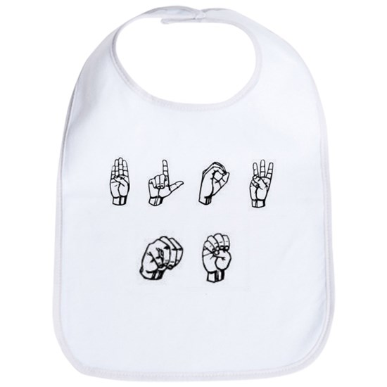 BLOW ME~ FUNNY ASL SIGN LANGUAGE Cotton Baby Bib BLOW ME