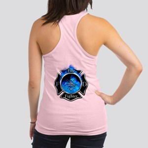 Firefighter Maltese Cross Racerback Tank Top