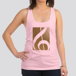 Treble Clef on Gold Tank Top