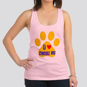 I Love Schnoodle Dog Racerback Tank Top