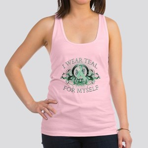 I Wear Teal for Myself Racerback Tank Top