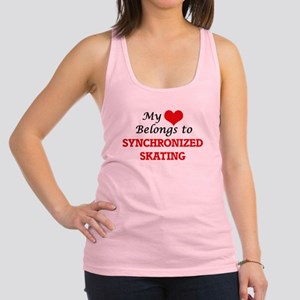 My heart belongs to Synchronize Racerback Tank Top