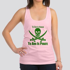 To Arr Is Pirate Green Racerback Tank Top