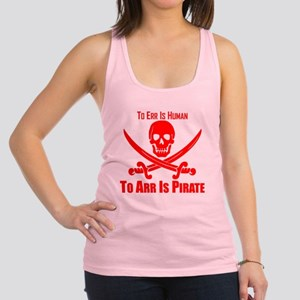 To Arr Is Pirate Red Racerback Tank Top