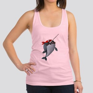 Pirate Narwhals Racerback Tank Top