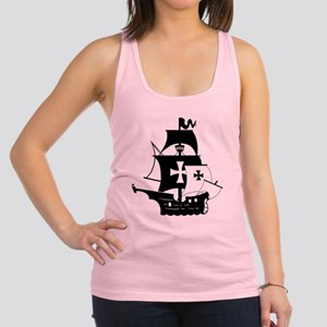 pirate ship Racerback Tank Top