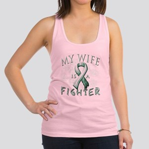 My Wife is a Fighter Teal Racerback Tank Top