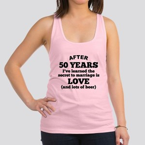 50 Years Of Love And Beer Racerback Tank Top