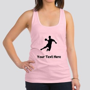 Dodgeball Player Silhouette Racerback Tank Top