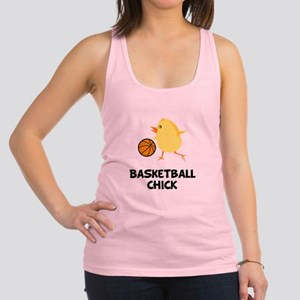 Basketball Chick Black Racerback Tank Top