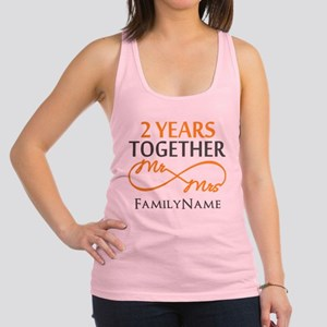 Gift For 2nd Wedding Anniversar Racerback Tank Top