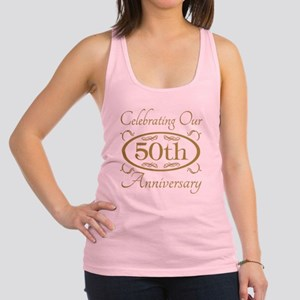 50th Wedding Anniversary Racerback Tank Top
