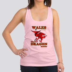 Wales football the dragon inside Racerback Tank To