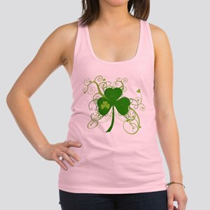 St Paddys Day Fancy Shamrock Racerback Tank Top