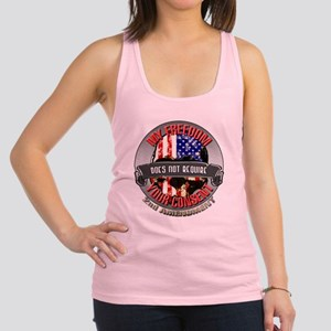 Freedom Requires No Consent Racerback Tank Top