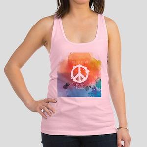 Peace Sign Racerback Tank Top