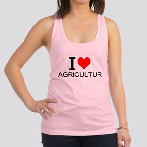 I Love Agriculture Racerback Tank Top