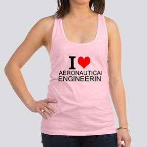 I Love Aeronautical Engineering Racerback Tank Top