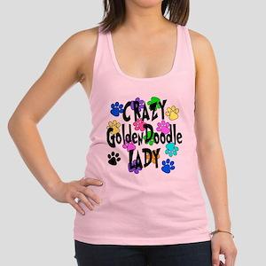 Crazy Goldenddoodle Lady Racerback Tank Top