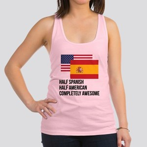 Half Spanish Completely Awesome Racerback Tank Top