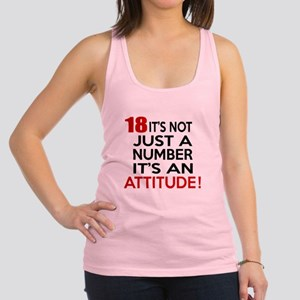 18 It Is Not Just a Number Birt Racerback Tank Top