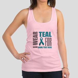 Teal Awareness Ribbon Customize Racerback Tank Top