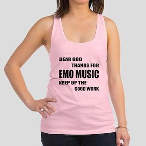 Dear God Thanks For Emo Racerback Tank Top