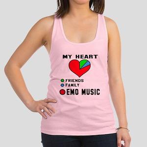 My Heart Friends, Family, Emo M Racerback Tank Top
