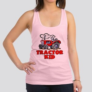 Red Tractor Kid Racerback Tank Top