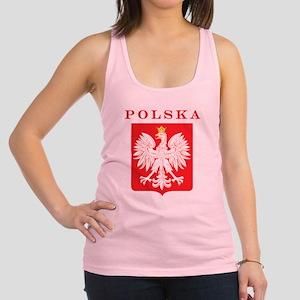 Polska Eagle Red Shield Racerback Tank Top