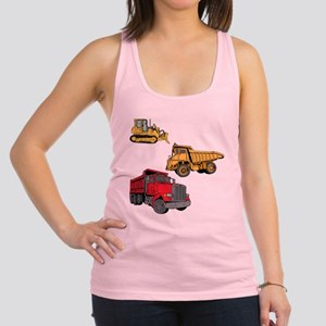 Construction Site Vehicles. Racerback Tank Top