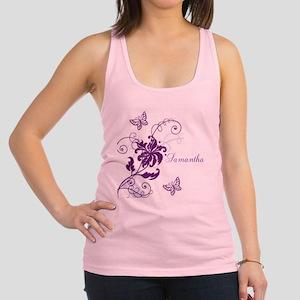 Purple Butterflies and Vines Racerback Tank Top