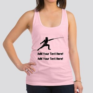 Personalize It, Fencing Racerback Tank Top