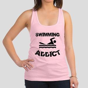 Swimming Addict Racerback Tank Top