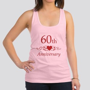 60th Wedding Anniversary Racerback Tank Top